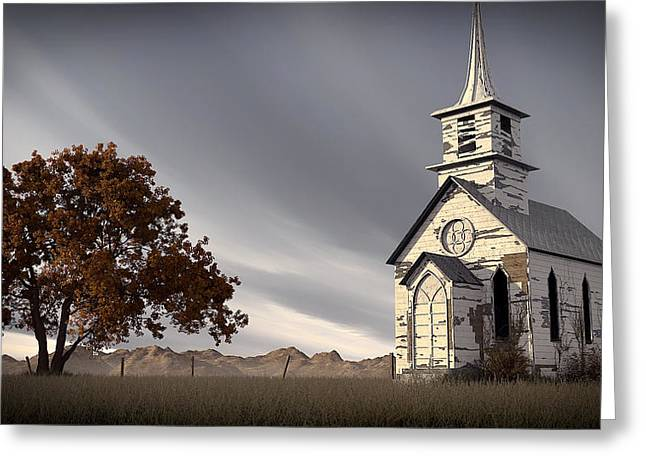 Church Ruins Greeting Cards - The Old Abandoned Church Greeting Card by Dale Forbes