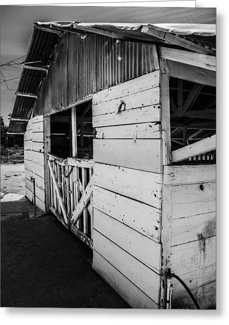 Metal Sheet Greeting Cards - The Old Barn Greeting Card by Daniel Hanson