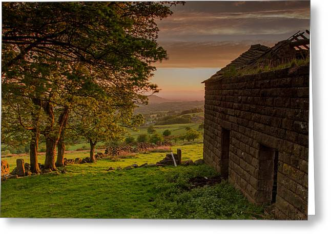 Sunset Prints Greeting Cards - The Old Barn Greeting Card by David Steventon