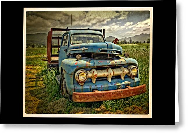 Art For Sale Greeting Cards - The Old Blue Ford Truck Greeting Card by Thom Zehrfeld
