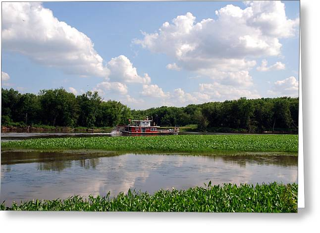 River View Greeting Cards - The old boat on the Mississippi River Greeting Card by Susanne Van Hulst
