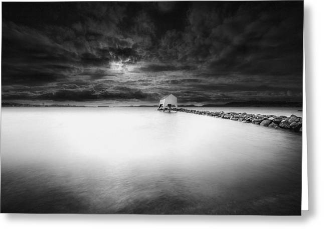 Shed Greeting Cards - The Old Boat Shed Greeting Card by Erik Brede