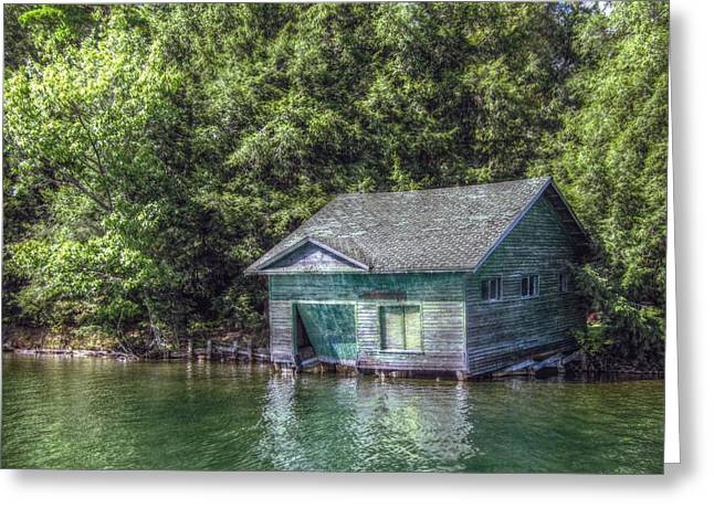 Sheds Greeting Cards - The Old Boathouse Greeting Card by Jean Connor