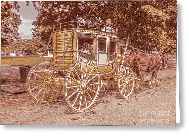 The Old Carriage Greeting Card by Claudia M Photography
