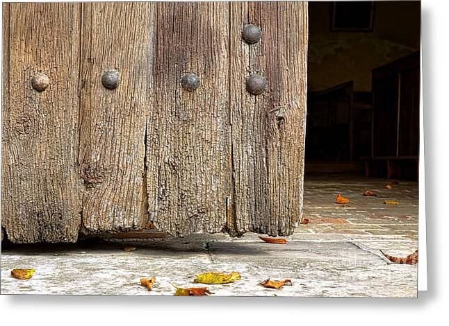 The Old Church Door Greeting Card by Olivier Le Queinec