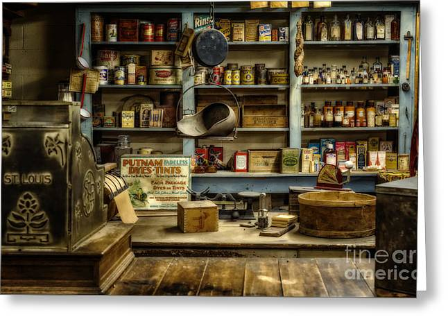 The Old Country Store Greeting Card by Priscilla Burgers