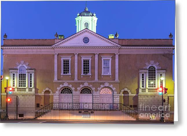 Dungeons Greeting Cards - The Old Exchange and Provost Dungeon at Twilight Charleston South Carolina Greeting Card by Dawna  Moore Photography