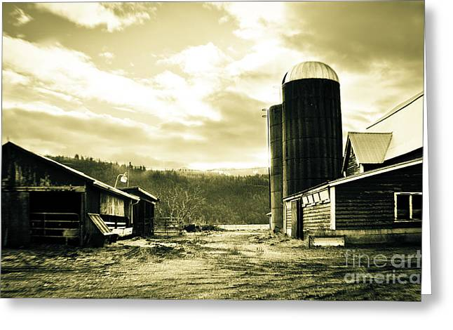 Clayton Greeting Cards - The Old Farm Greeting Card by Clayton Bruster