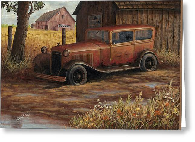 Old Barns Greeting Cards - The Old Ford Greeting Card by Robert Wavra