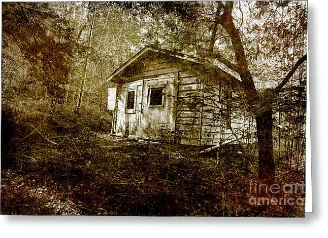 Outbuildings Greeting Cards - The Old Garage Greeting Card by Michael Eingle