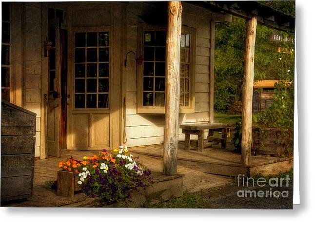 Old Store Greeting Cards - The Old General Store Greeting Card by Lois Bryan