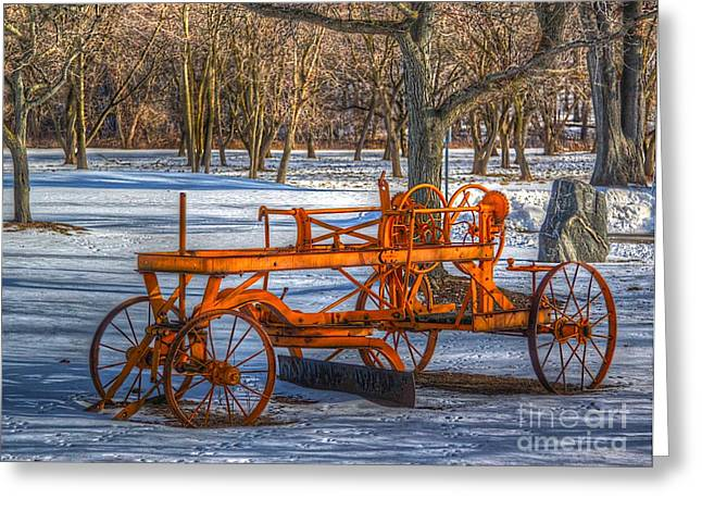 Alteration Greeting Cards - The old grader Greeting Card by Robert Pearson