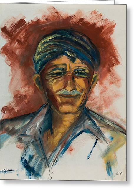 Crete Greeting Cards - The Old Greek Man Greeting Card by Elise Palmigiani