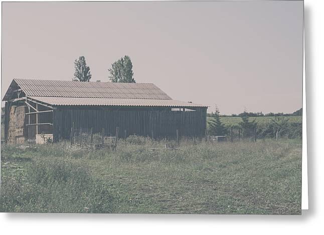 The Old Hay Barn Greeting Card by Georgia Fowler