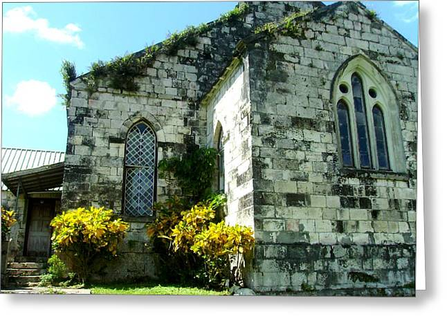 Montego Bay Greeting Cards - The Old Hilltop Church Greeting Card by Lauranns Etab