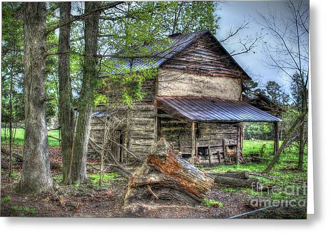 Shed Digital Art Greeting Cards - The Old Home in the Hills Greeting Card by Dan Stone