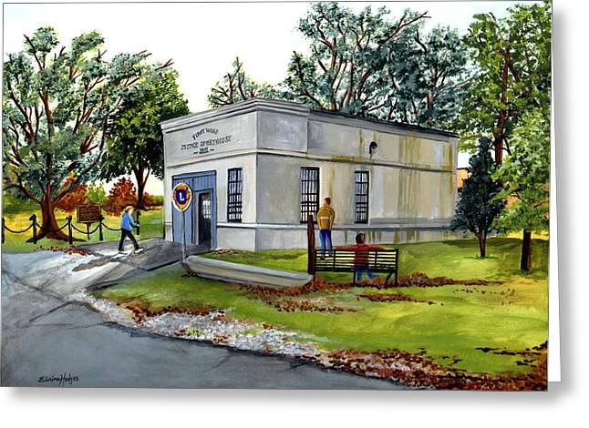 Louisiana Greeting Cards - The Old Jail Greeting Card by Elaine Hodges