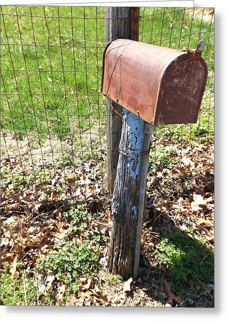 Old Fence Posts Digital Greeting Cards - The Old Mailbox II - Digital Oil Painting Greeting Card by Cody Cookston