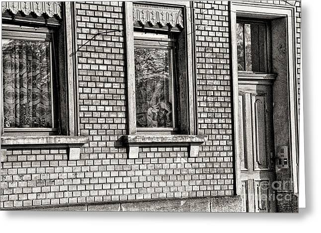 The Old Man In The Window Greeting Card by Jeff Breiman