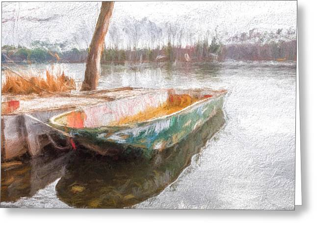 Maine Landscape Greeting Cards - The Old Mans Boat Greeting Card by Bob Orsillo