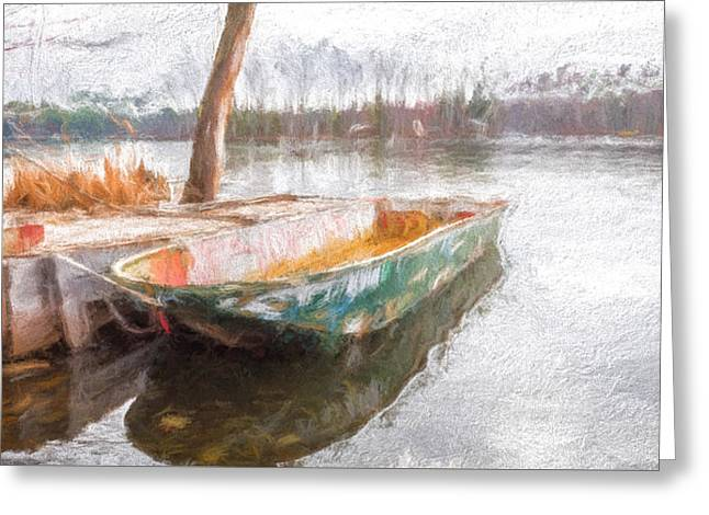 Bob Orsillo Paintings Greeting Cards - The Old Mans Boat Greeting Card by Bob Orsillo