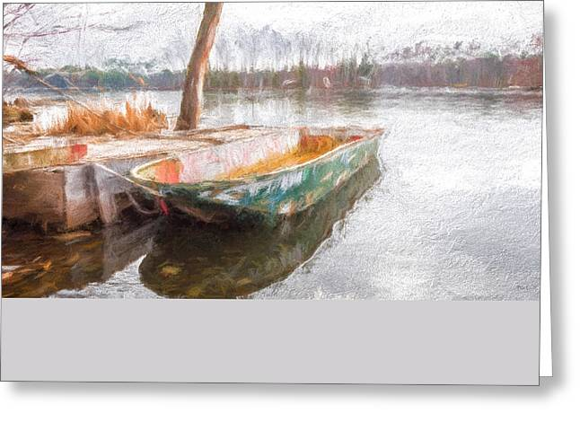 Maine Spring Greeting Cards - The Old Mans Boat Greeting Card by Bob Orsillo