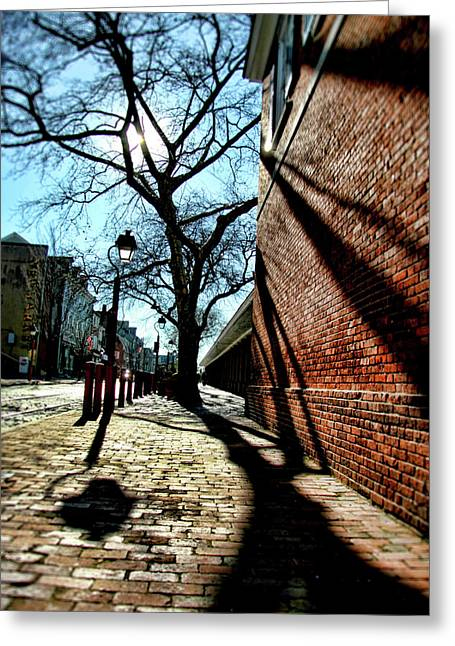 South Philadelphia Greeting Cards - The Old Market Greeting Card by Michelle Sheppard