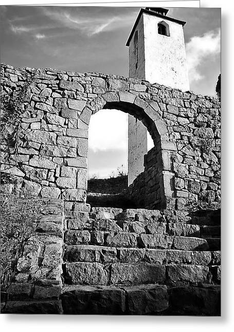 Medieval Entrance Digital Greeting Cards - The old medieval fortress Greeting Card by Zoran Kepic