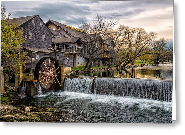 Gatlinburg Tennessee Greeting Cards - The Old Mill Greeting Card by Brett Perucco