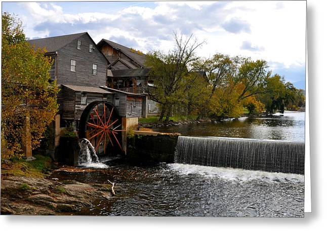 The Old Mill Greeting Card by Brittany H