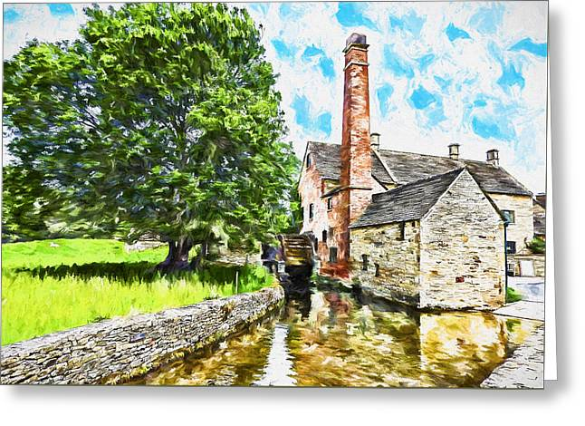 Stream Digital Art Greeting Cards - The Old Mill Greeting Card by John K Woodruff