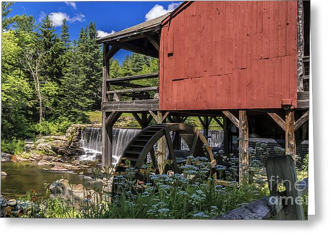 Grist Mill Greeting Cards - The Old Mill Museum. Greeting Card by New England Photography