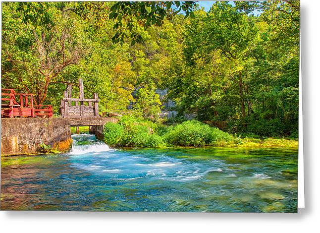 Moss Greeting Cards - The Old Mill Stream Greeting Card by John Bailey