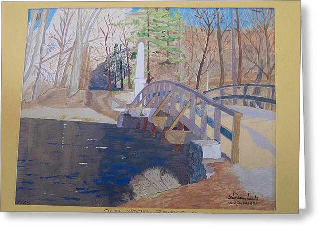 Concord Ma. Greeting Cards - The Old North Bridge in Concord MA Greeting Card by William Demboski