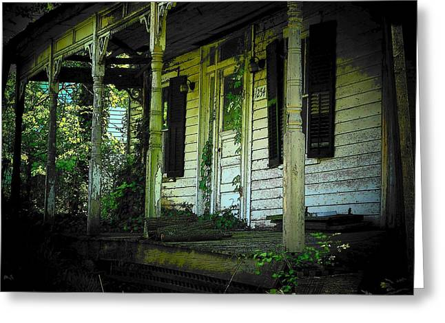 Northern Virginia Greeting Cards - The Old Porch Greeting Card by Joyce Kimble Smith