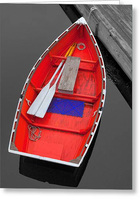 The Old Red Lobster Boat  Greeting Card by Emmanuel Panagiotakis