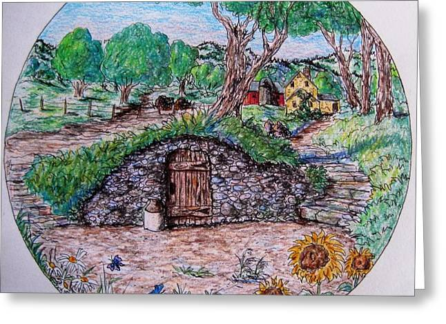 Cellar Drawings Greeting Cards - The Old Root Cellar Greeting Card by Megan Walsh