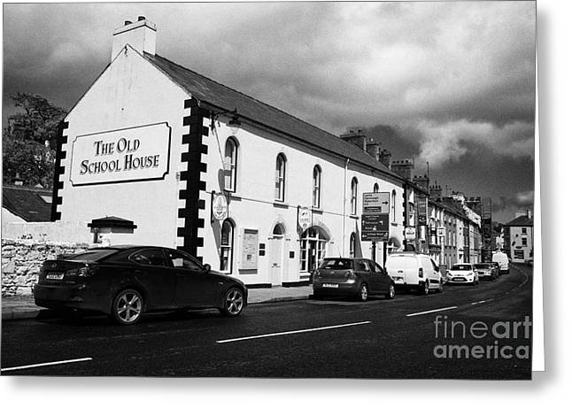 School Houses Greeting Cards - the old school house tourist information office mill street Cushendall County Antrim Northern Ireland UK Greeting Card by Joe Fox