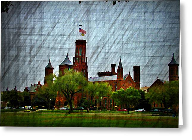 Smithsonian Greeting Cards - The Old Smithsonian Greeting Card by Bill Cannon