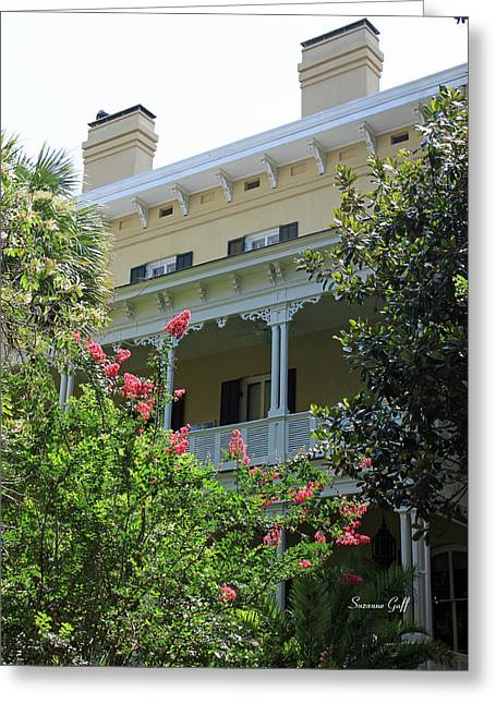 Historic Home Greeting Cards - The Old South Series IV Greeting Card by Suzanne Gaff