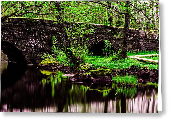 Kultur Greeting Cards - The old stone bridge Greeting Card by Toppart Sweden