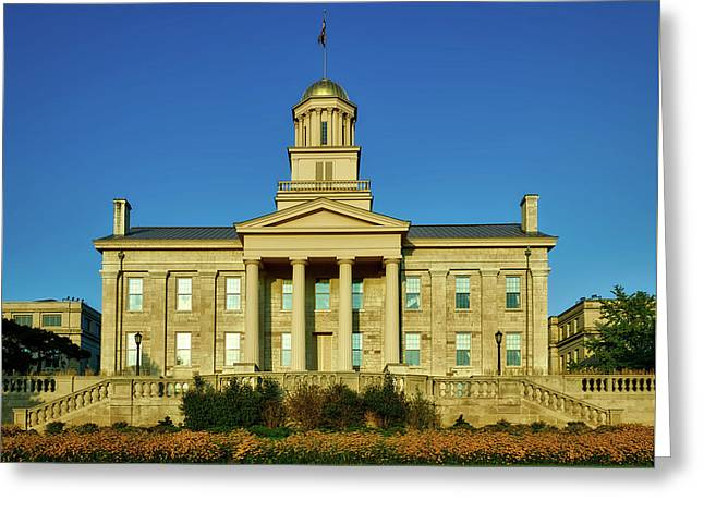 The Old Stone Capitol - Iowa City Greeting Card by Mountain Dreams