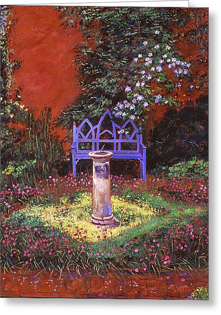 Garden Statuary Greeting Cards - The Old Sundial Greeting Card by David Lloyd Glover