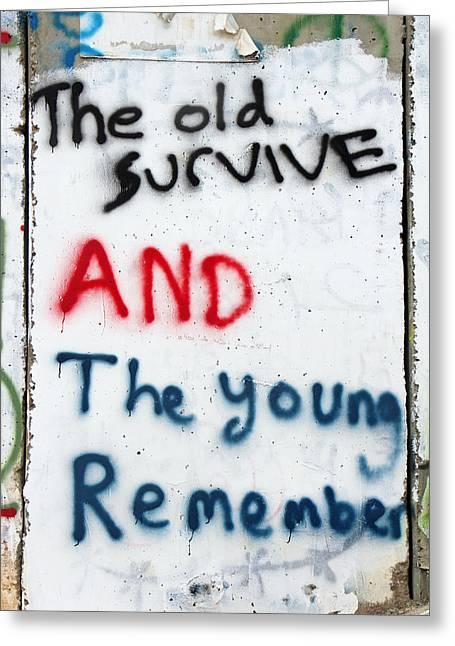 The Old Survive Greeting Card by Munir Alawi