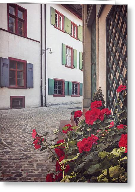 Swiss Photographs Greeting Cards - The Old Town Greeting Card by Carol Japp