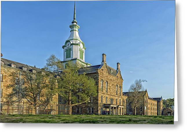 Psychiatric Greeting Cards - The Old Trans - Allegheny Lunatic Asylum  Greeting Card by Mountain Dreams