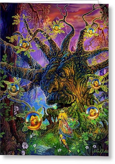 Coin Pictures Greeting Cards - The Old Tree Of Dreams Greeting Card by Steve Roberts