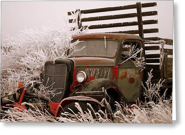 Organe Greeting Cards - The Old Truck Greeting Card by JoJo Photography