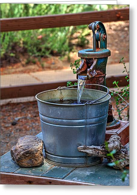 Flowing Wells Greeting Cards - The Old Water Pump Greeting Card by Richard Stephen