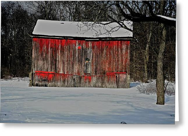 Old Barns Mixed Media Greeting Cards - The Old Weathered Barn Greeting Card by Robert Pearson